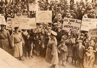 Антивоенная демонстрация в Нью-Йорке