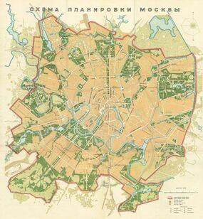 Карта Москвы 1926