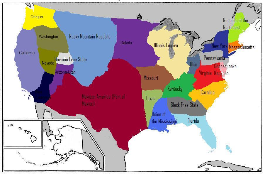 Divided States Of America Alternative History Fandom Powered By