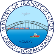 Seal of the Cygnian Ministry of Transportation