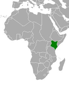 Location of Kenya (Cherry, Plum, and Chrysanthemum)