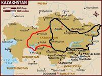 Map of kazakhstan 83DD