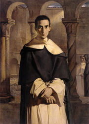 Portrait of Abott Tomas Goch of Valle Crucis Abbey Chancellor 1560-72