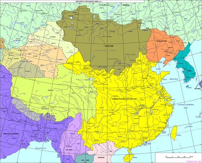China map - 1855