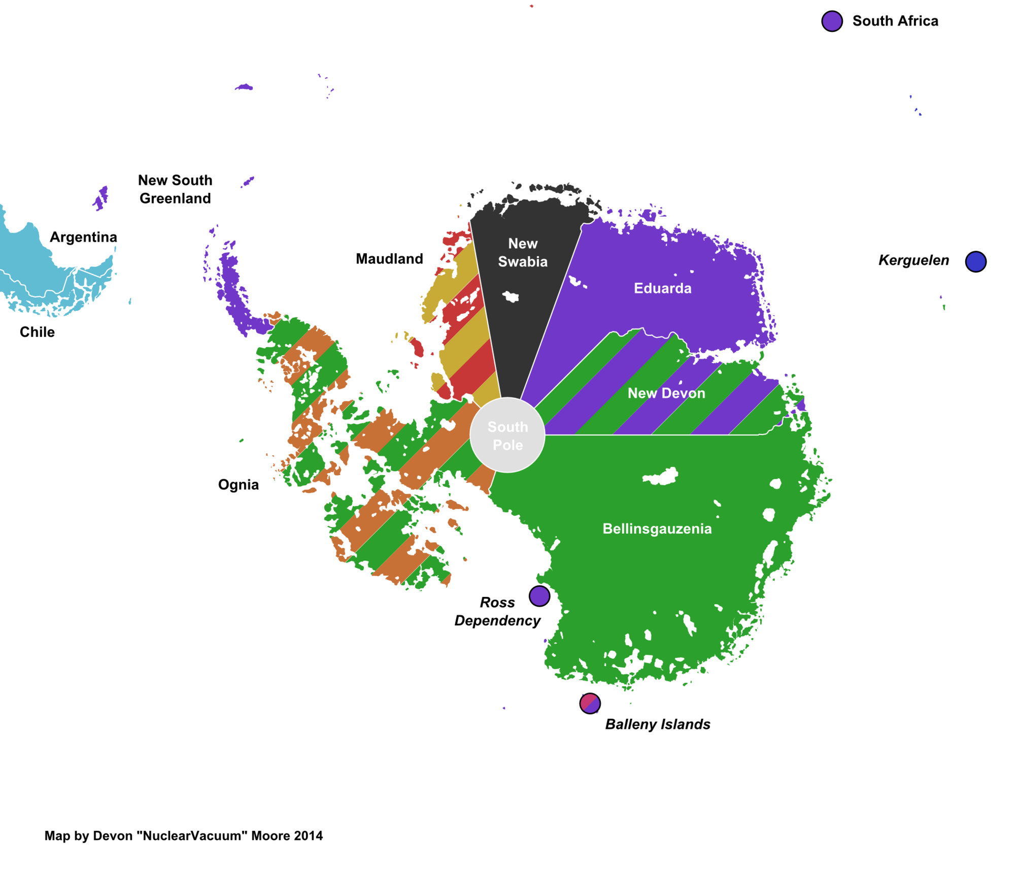 languages of antarctica (great white south)   alternative history