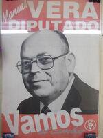 Manuel Vera - Afiche Diputado