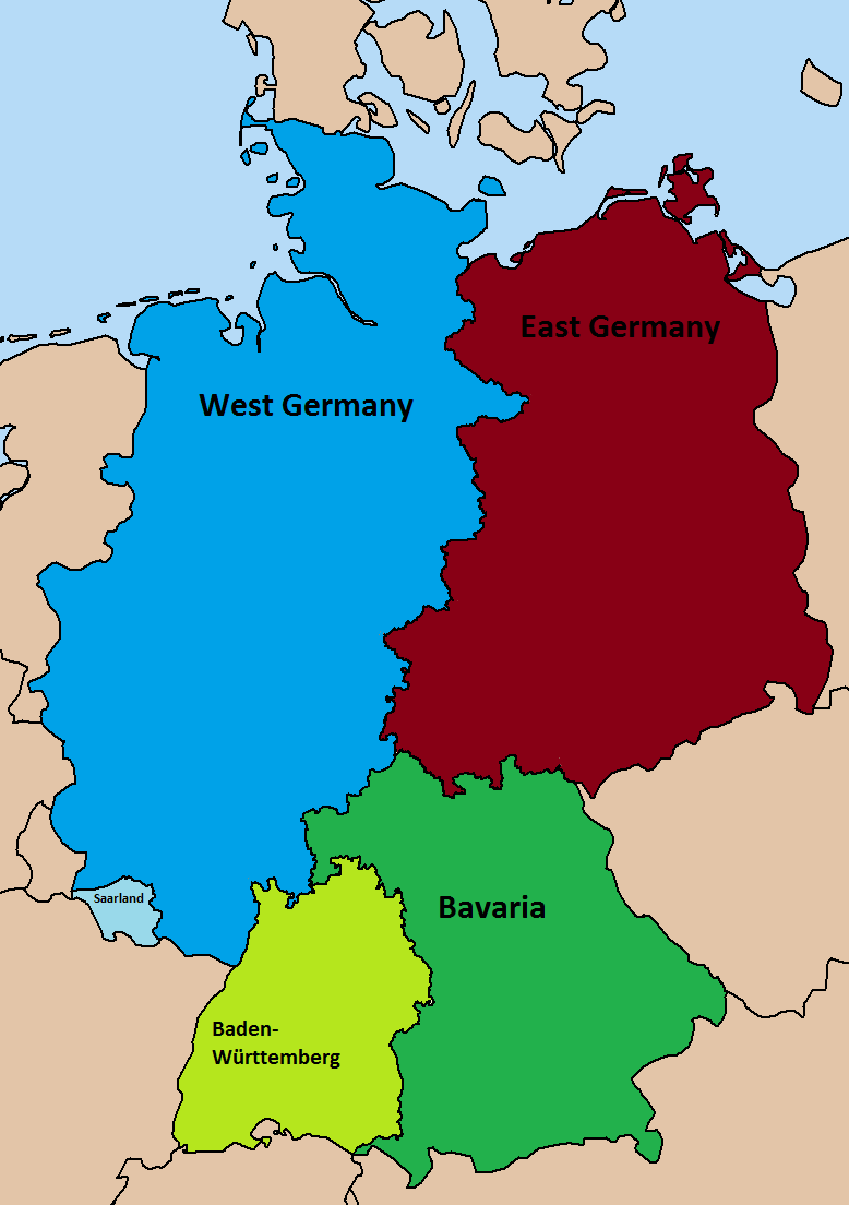 Divided Germany Map | woestenhoeve