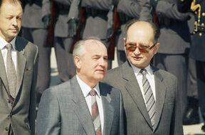 Ярузельский и Горбачёв