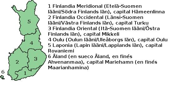 Finlandia admin mapa