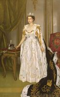 Queen Elizabeth II Coronation Portrait Herbert James Gunn