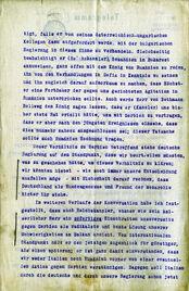 Telegramm zur Hoyos-Mission
