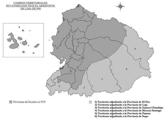 Cambios Territoriales Ecuatorianos tras el Armisticio de Lima