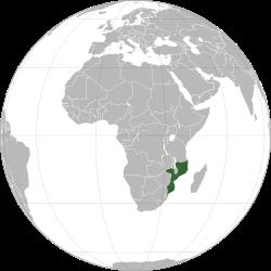 Resultado de imagen para Moçambique globe map