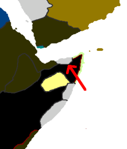 Small state east of Ethiopia