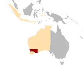 Cygnian states locator map SW