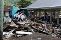 Samoa tsunami damage