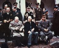 Yalta summit 1945 with Churchill, Roosevelt, Stalin