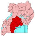Buganda (map) showing Kayunga seccession.png