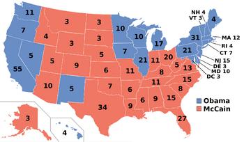Deadlock 2008 Election Map