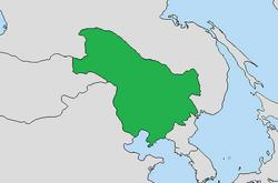 Mapa Manchukuo GIA