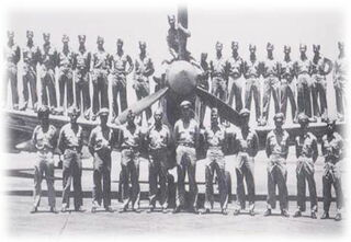 Nationalist Chinese soldiers with war-plane