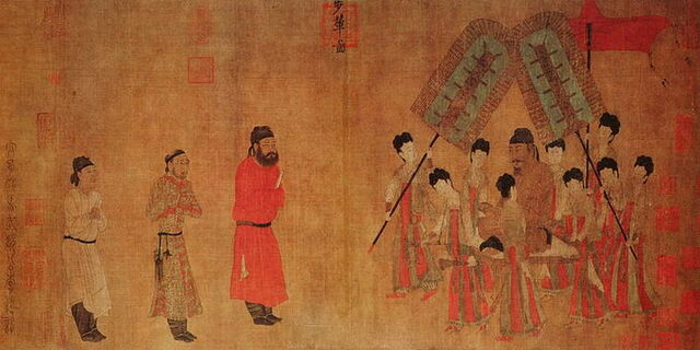 File:800px-Emperor Taizong Receiving the Tibetan Envoy(Bunian Tu).jpg