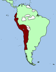 Incan and andean claimed territory 1501.
