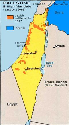 Jewish settlements 1947