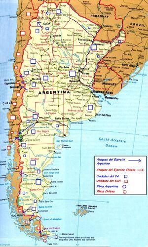 Guerra Sudamericana Mapa Invasión Argentina