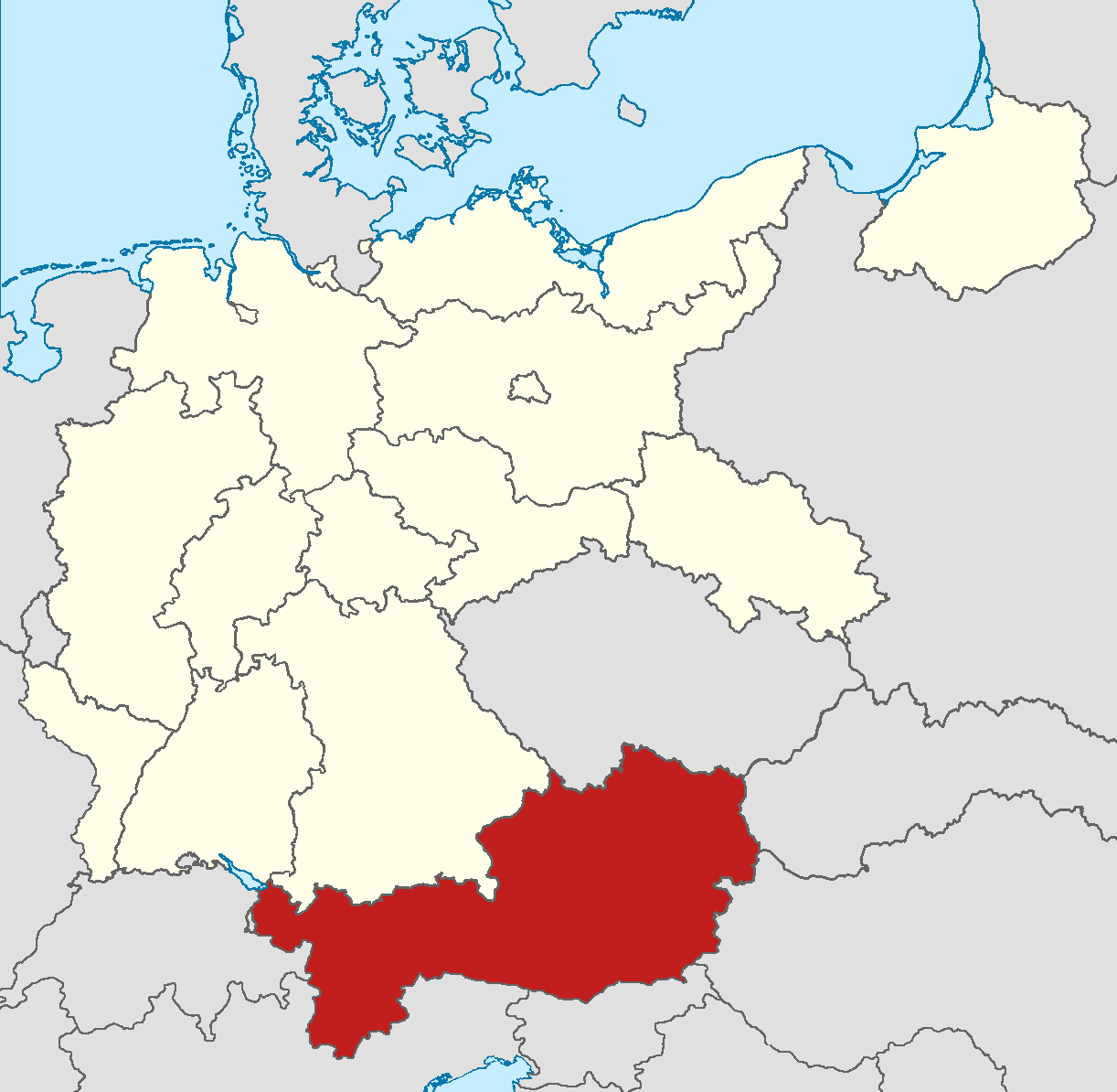 Image locator map austria in germany img alternative locator map austria in germany img gumiabroncs Choice Image