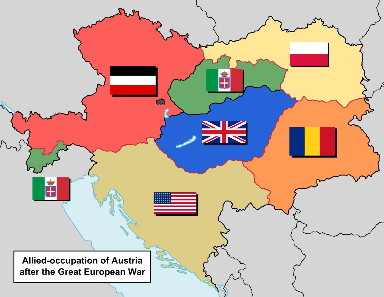 Image Map Of Alliedoccupied Austria No Belgiumpng - Belgium map png