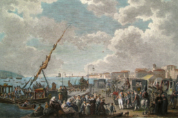 Departure of H.R.H. the Prince Regent of Portugal for the Brazils (Campaigns of the British Army in Portugal, London, 1812) - Henry L'Evêque, F. Bartollozzi