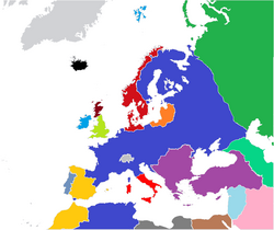 Europe Political NW