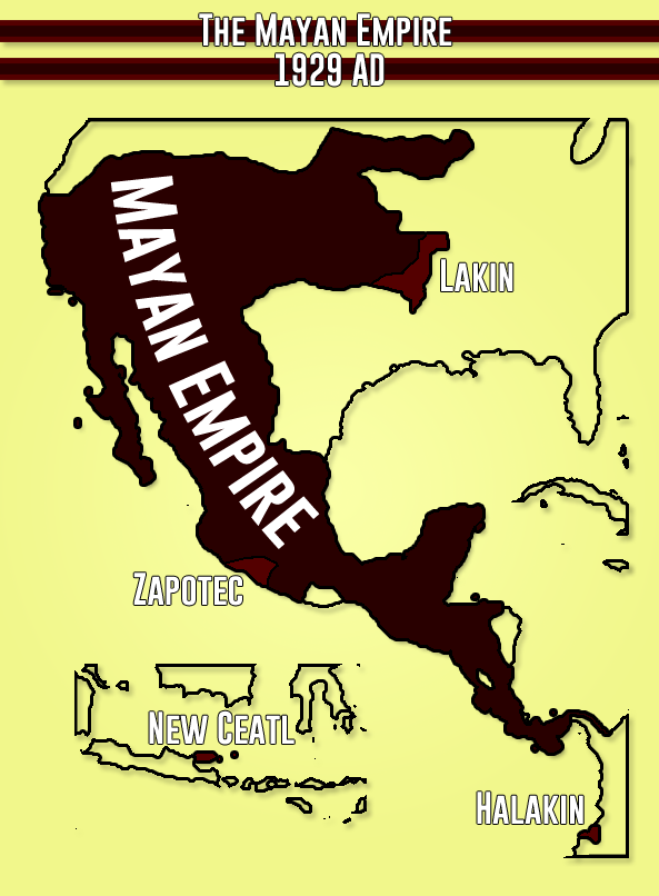 Image - Mayan Empire 1929 AD.png | Alternative History | FANDOM ...