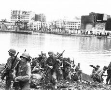 SRA soldiers crossing river