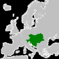 Ubicación Austria-Hungría