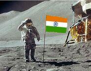 Индия на луне