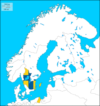 Gothenland w. Flag (the Kalmar Union)