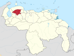 Ubicación del Estado Lara (CNS)