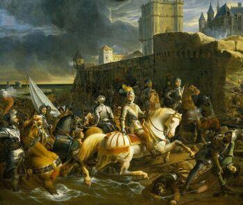 1838 François-Édouard Picot - The Siege of Calais
