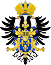 Ornamented Coat of Arms of Henry VIII, Holy Roman Emperor