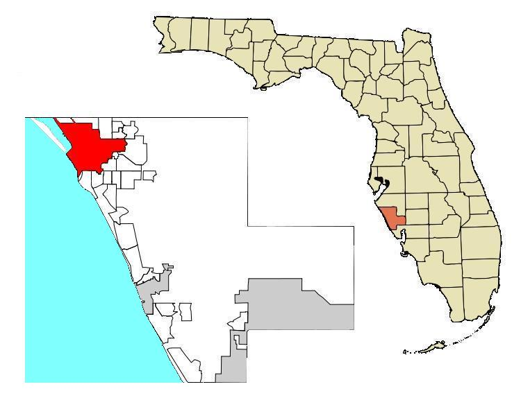 Image Sarasota Map Dm City Boundary CorwGoM HighlightedJPG - Us map with florida highlighted