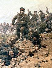 Болгарская пехота аткует турецкие позиции