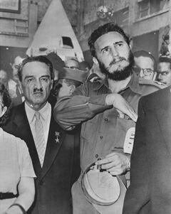 Микоян на Кубе