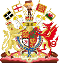 Imperial-Royal Coat of Arms of England by eric4e (Wales and Cornwall) - Sugar Rush CoA