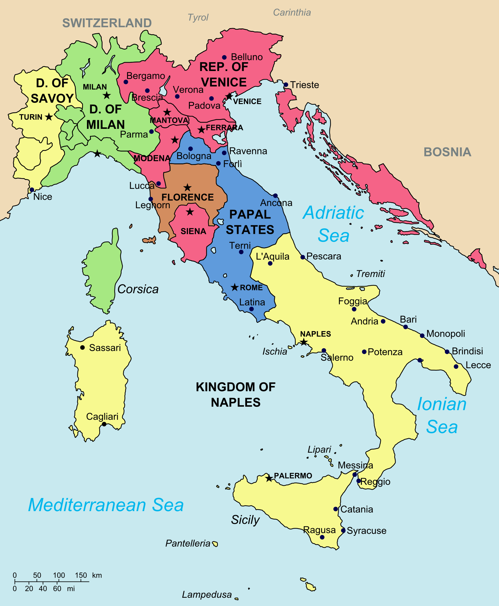 Italian League (Principia Moderni II Map Game) | Alternative