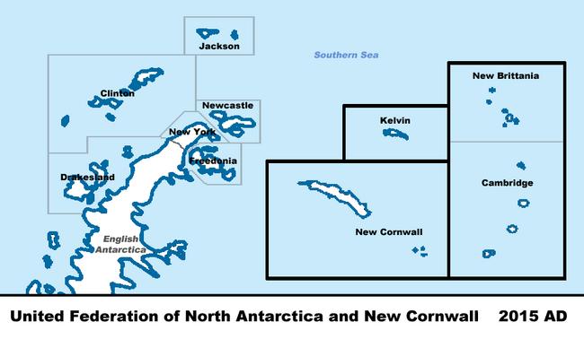 North Antarctica Map VINW 2