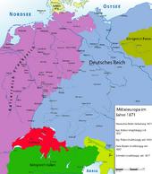 Mitteleuropa 1871 Vive l'empereur