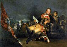 Portrait of Manuel Godoy by Goya