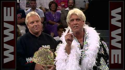 Ric Flair debuts in WWE Prime Time Wrestling, Sept. 9, 1991